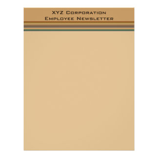 Business Brown green stripes 21.5 Cm X 28 Cm Flyer