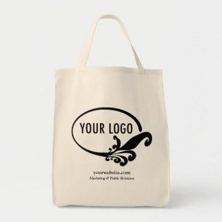 Business Canvas Tote Bag Company Logo Custom Print