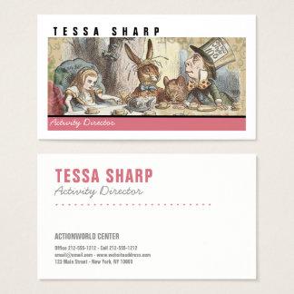 Business Card Alice Wonderland Custom Template Art
