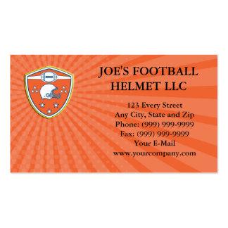 Business card American Football Helmet Stars Shiel