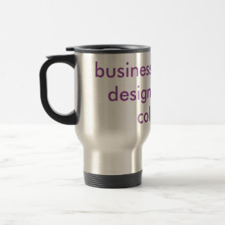 """""""Business card and design""""  in 3d Travel Mug"""