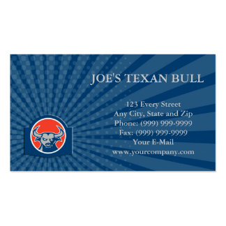 Business card Angry Bull Head Circle Retro