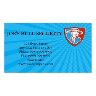 Business card Angry Texas Longhorn Bull Head Shiel