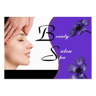 Business Card Beauty Salon Spa Black Purple