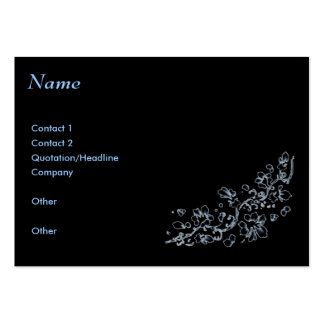 Business card, Black , ethereal