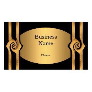Business Card Black & Gold Rosette Trim Business Card Template