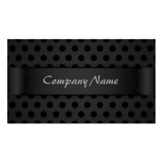 Business card Black Polka Dot