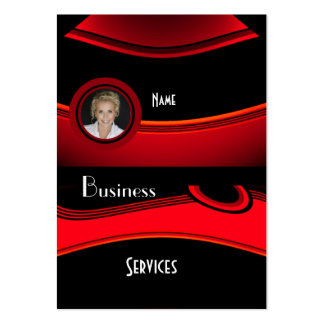 Business Card Black Red Add photo Logo