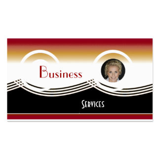Business Card Black Red White Add photo Logo