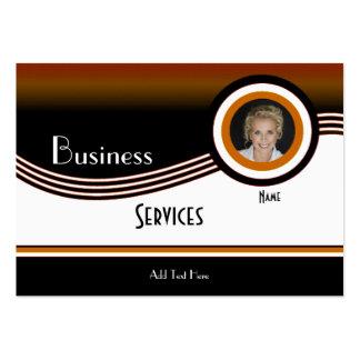 Business Card Black Tan Brown Add photo Logo