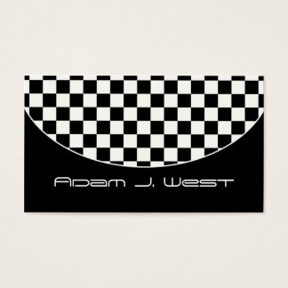 Business Card :: Black & White Chequered D2