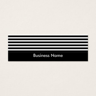 Business Card Black & White Stripes Skinny