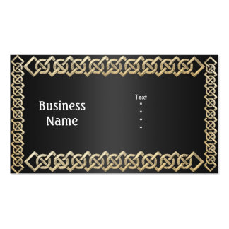 Business Card Black with Gold Trim Business Card Template