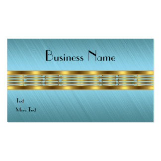 Business Card Blue Fabric Frayed Gold Trim Business Card Templates