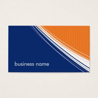 BUSINESS CARD bold bright pizzazz blue orange