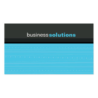 BUSINESS CARD bold modern linear aqua blue grey