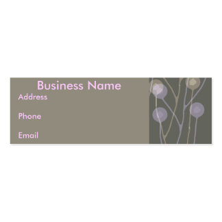 Business card Brown & Pink  Floral abstract