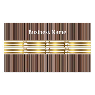 Business Card Brown Stripes Gold Trim Business Card Templates