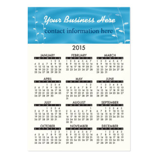 Business Card Calendar Blue Spa