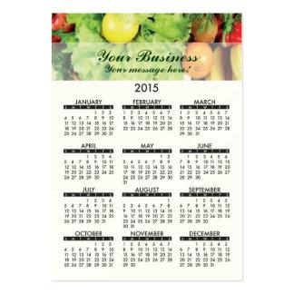 Business Card Calendar Fresh Produce