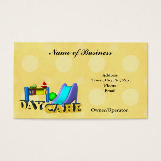 Business Card-Child Care Day Care Business Card