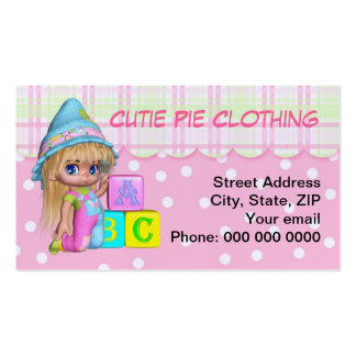 Business Card Children's Toys, Clothing, Daycare