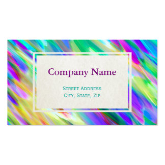 Business Card Colorful digital art splashing