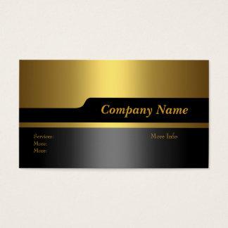 Business Card Company Elegant Black Gold