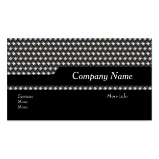 Business Card Company Elegant Black Metal look Business Card