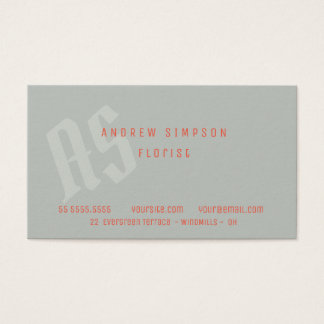 Business Card Configurable initial color and font