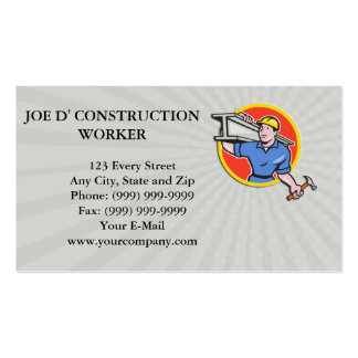 Business card Construction Steel Worker Carry I-Be