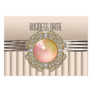 Business Card Cream Art Deco Peach Jewel
