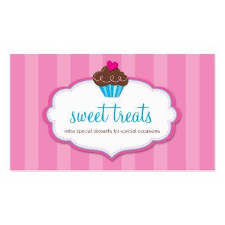 BUSINESS CARD cute bold cupcake pink
