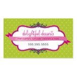 BUSINESS CARD cute stylish fuschia pink lime green