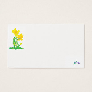 Business Card/ Daffodils Business Card