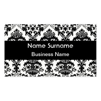 Business Card Damask black and white