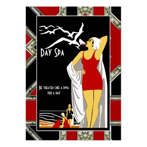 Business Card Day Spa Beauty Salon Diva retro Business Card Templates