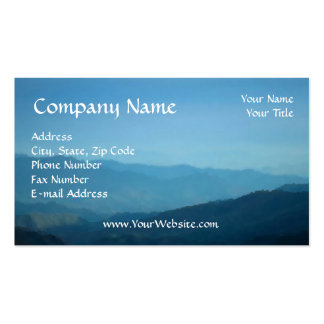 Business Card Easy to Design Online Mountain Sky