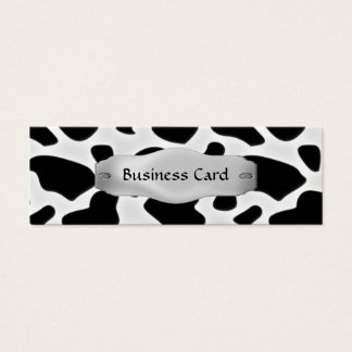 Business Card Elegant Cow Print Metal Skinny
