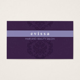 BUSINESS CARD elegant finesse lilac purple