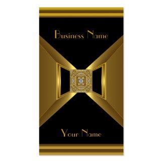 Business Card Elegant Gold Black Jewel