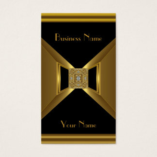 Business Card Elegant Gold Black Jewel