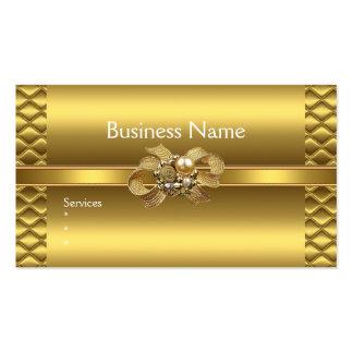 Business Card Elegant Gold BowsTile Trim Jewel
