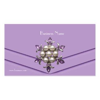 Business Card Elegant Lilac Pearl Jewel