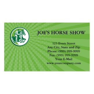 Business card Equestrian Show Jumping Side Circle
