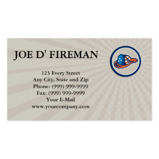 Business card Fireman Hat Helmet USA Stars and Str