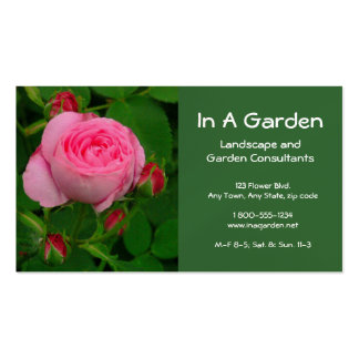 BUSINESS CARD FLORAL DEEP PINK ROSE PHOTOG