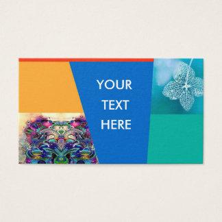 business card flower