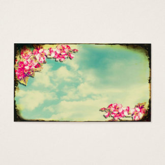 Business Card Flowers in the Sky