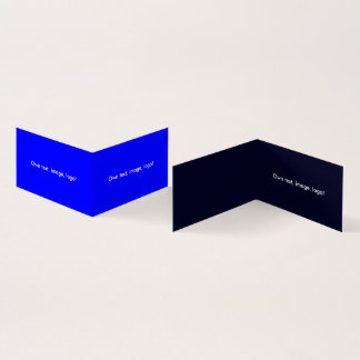 Business Card Folded Book H Royal Blue-Dark Blue